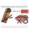 (ซื้อ3 ราคาพิเศษ) Mei linda Miracle Color Fit Lip Liner #02 Coral เมลินดา ดินสอเขียนขอบปาก 1.5 กรัม