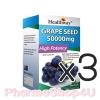 (ซื้อ3 ราคาพิเศษ) Healthway Grape Seed 50,000mg 100เม็ด เพื่อผิวขาวใสกับองุ่นสกัดจากธรรมชาติ 100% ลดฝ้า กระ ยับยั้งการสร้างเม็ดสีเมลานิล