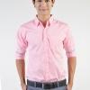 เสื้อเชิ้ตผู้ชายสีชมพู ผ้าคอตตอน