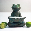 Sitting Frog Outdoor Candle: Citronella