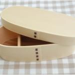 Slim Shiraki bending magewappa bento box กล่องข้าวเบนโตะญี่ปุ่นทรงยาวสีไม้ 1 ชั้น
