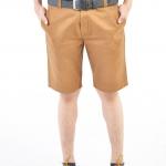 กางเกงขาสั้นผู้ชายสีน้ำตาลทอง ผ้าฟอกนิ่ม