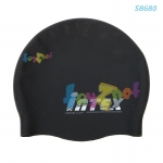 Intex หมวกว่ายน้ำซิลิคอน สีดำ
