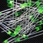 LED ขนาด 3mm สีเขียว LED 3mm Green