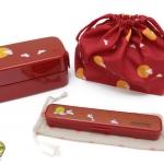Rabbit Bento Box Japanese-style Set - เซตกล่องเบนโตะญี่ปุ่นลายกระต่าย รวมชุดช้อนตะเกียบ สีแดง