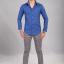 เสื้อเชิ้ตผู้ชายสีน้ำเงิน ผ้า Oxford thumbnail 2