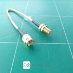 SMA Male to SMA Female RG316 Coax Cable 15cm