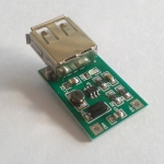 Step up 0.9V - 5V to 5V USB Output Charger