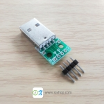USB 2.0 Type-A Male Connector Adapter Breakout