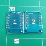 Dual Base for WeMos D1 mini