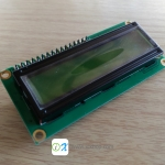 LCD Character Display 16x2 (Green) with I2C Serial interface Board