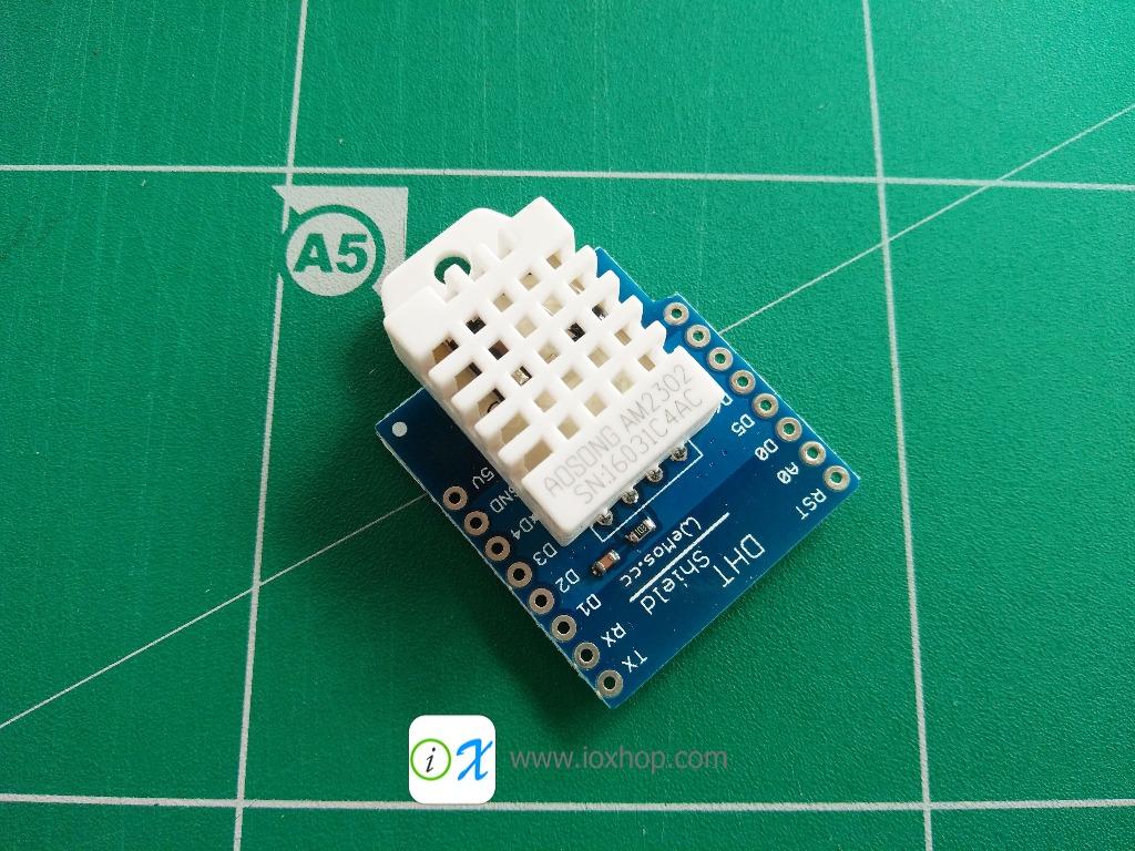 DHT Pro Shield for WeMos D1 mini DHT22 Single-bus digital temperature and humidity sensor