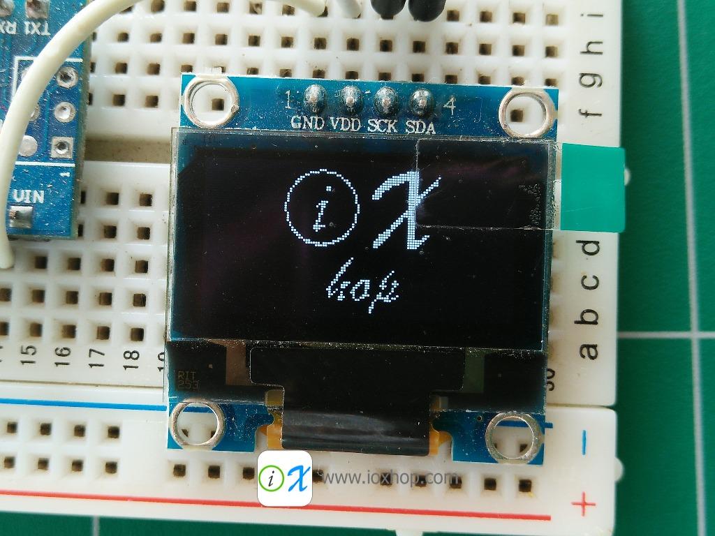 """128X64 0.96"""" OLED Display Module (White)"""